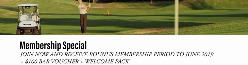 Golf Membership Specials - Click on Banner for Details